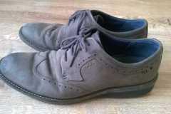 farbowanie nubuku męskie buty ecco - stan poczatkowy