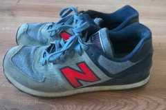renowacja zamszu buty nb - stan początkowy