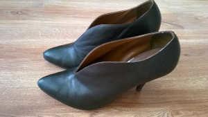 Farbowanie butów damskich stan końcowy