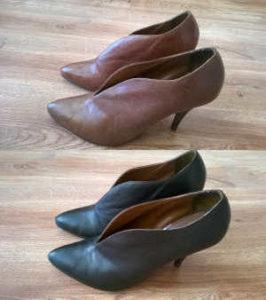 Farbowanie butów skórzanych