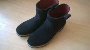 Renowacja butów zamszowych ecco efekt końcowy