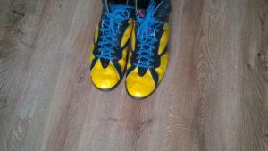 Custom butów Air Jordan 7 widok nosków
