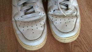 Noski butów przed zmianą