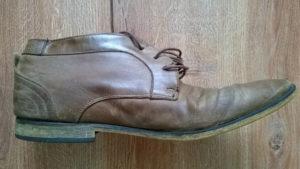 renowacja mocno używanych butów skórzanych