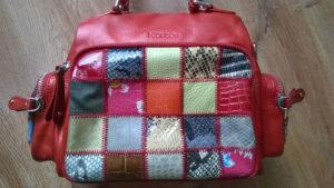 Renowacja torebki widok boku z dużą kieszenią