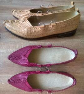farbowanie butów ślubnych