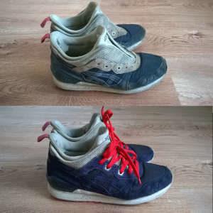 renowacja zamszowych butów asics