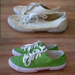 Barwienie obuwia z tkaniny