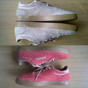Farbowanie butów zamszowych