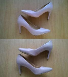 malowanie porysowanych damskich butów