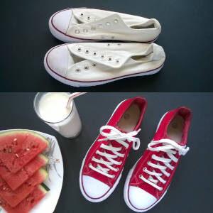 Malowanie butów materiałowych