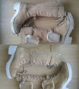 Odnawianie butów zamszowych