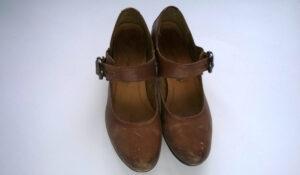 Buty skórzane przed barwieniem