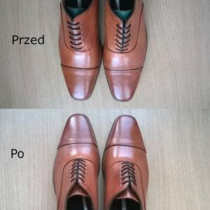 Malowanie butów skórzanych aby zmienić język buta