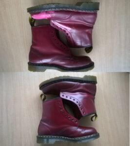 Malowanie butów Martens