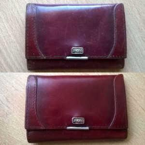 Renowacja portfela ze skóry